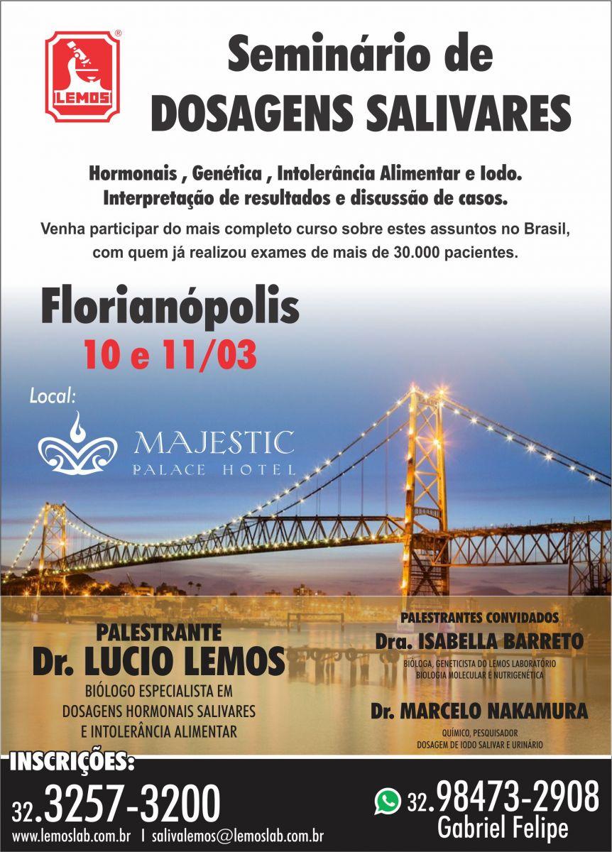 Seminário de Dosagens Salivares – Florianópolis